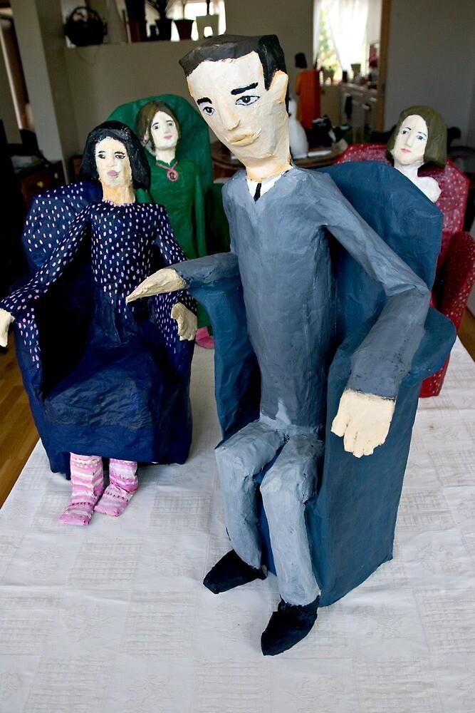 Papermashe people by saravilbergs