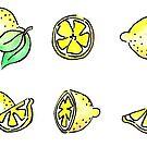Lemon Sticker Set by pixelmist