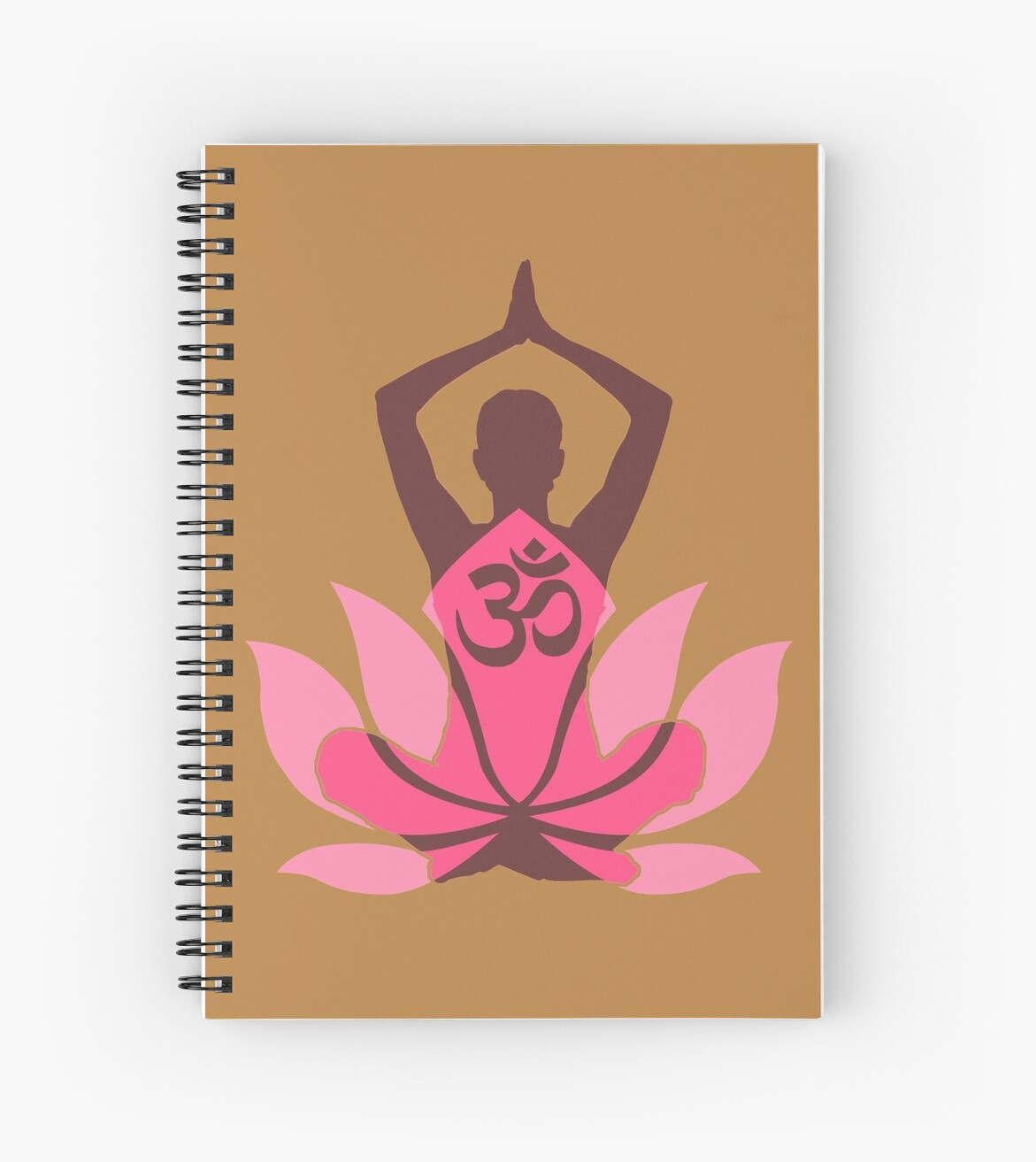 Om namaste yoga pose lotus flower spiral notebooks by garaga om namaste yoga pose lotus flower by garaga mightylinksfo