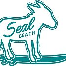 Seal Beach surfing donkey by divotomezove