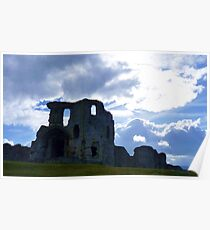 Denbigh Castle, Denbighshire, North Wales. Poster