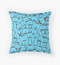 Mr. Meeseeks - Rick and Morty Throw Pillow