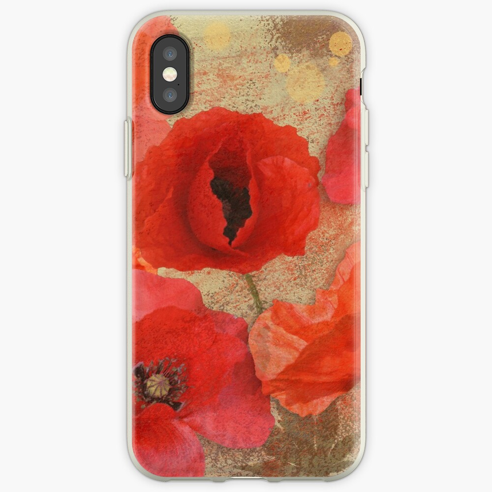 Red as poppies can be iPhone Case & Cover