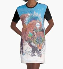 Kitsune Graphic T-Shirt Dress