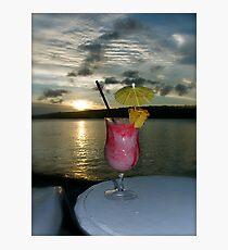 Strawberry Sunset Photographic Print