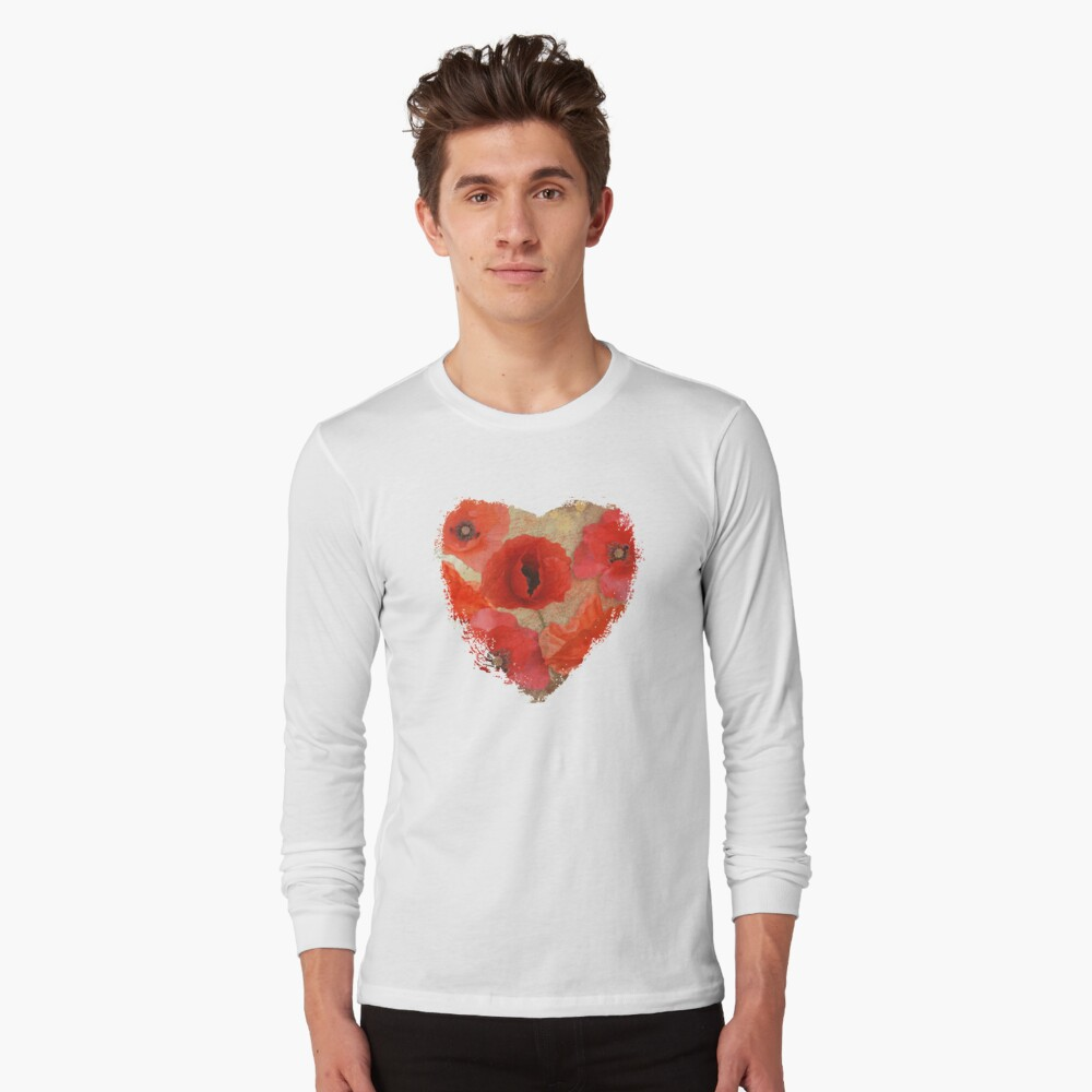 Red as poppies can be Long Sleeve T-Shirt