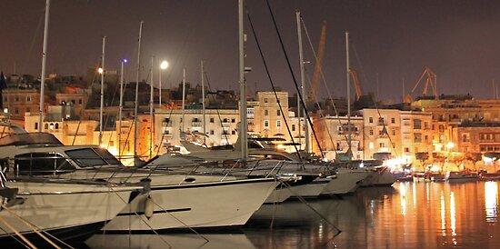 Grand Harbour, Malta. by Joanna Beilby