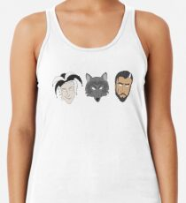 Fitz, The Fool, and Nighteyes Racerback Tank Top