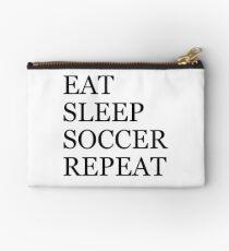 EAT SLEEP SOCCER REPEAT Zipper Pouch
