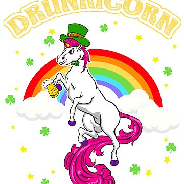 Irish Beer Drinking Unicorn St. Patrick's  by frittata