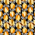 Textured Bold Yellow Floral Pattern by daniteal
