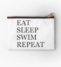 Eat Sleep Swim Repeat Zipper Pouch