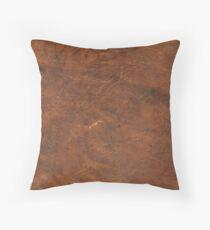 Cojín Textura de cuero viejo bronceado | Cuero