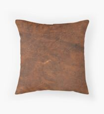 Old Tan Leather Texture | Cowhide Floor Pillow