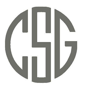 CSG Monogram - Dark Gray by MorganNicole021