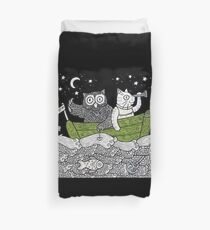 The Owl & The Pussycat Went to Sea Duvet Cover