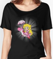 Yoshi and Chibi Peach Women's Relaxed Fit T-Shirt