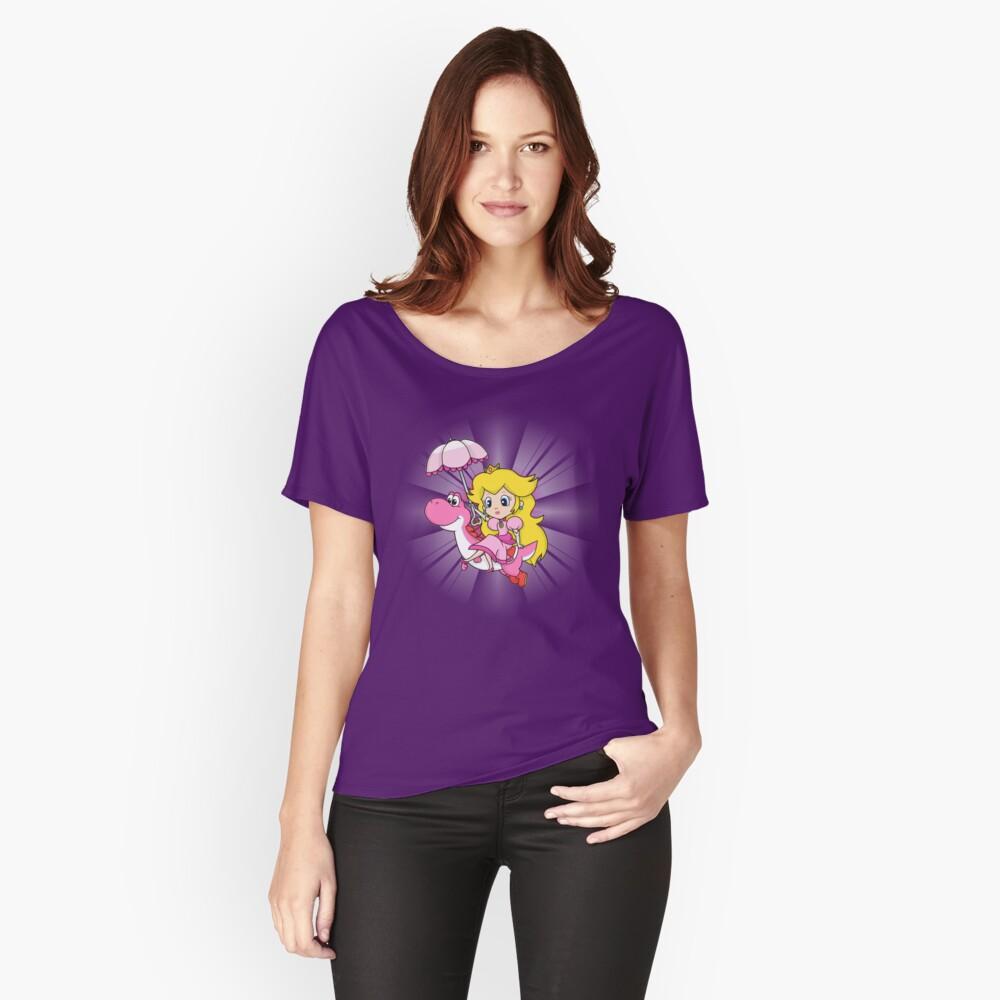 Yoshi und Chibi Pfirsich Loose Fit T-Shirt
