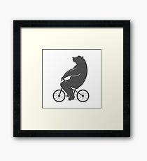 Print Bear on a Bicycle Framed Print