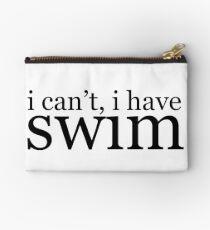 i can't, i have swim  Zipper Pouch