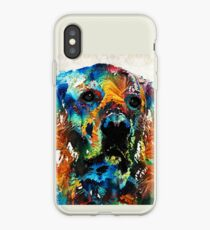 Colorful Dog Art - Heart And Soul - By Sharon Cummings iPhone Case