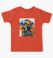 Colorful Dog Art - Heart And Soul - By Sharon Cummings Kids Tee