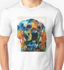 Colorful Dog Art - Heart And Soul - By Sharon Cummings Unisex T-Shirt