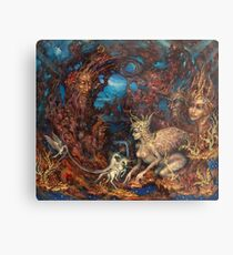 Unexpected Visit of the Clairvoyant Sphinx Metal Print