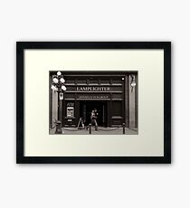 LAMPLIGHTER Framed Print