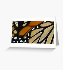 Monarch wings ~ A closer look Greeting Card