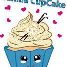 Vanille Cupcake im Kawaii Style von Stefanie Keller