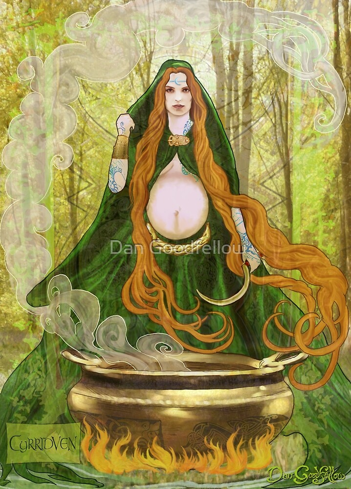 Celtic Goddess - Cyrridven by Dan Goodfellow