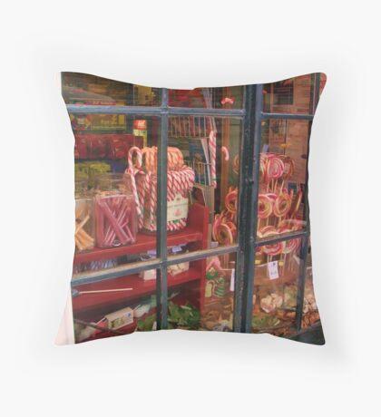 Old English Sweet Shop Throw Pillow