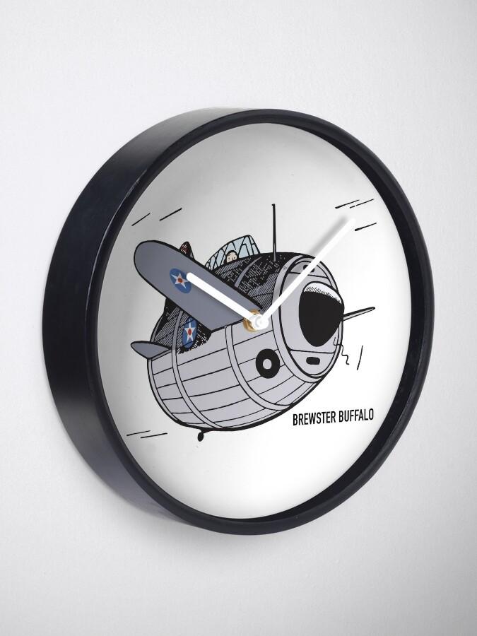 Brewster F2A Buffalo WW2 Plane Art | Clock