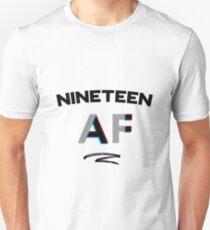 19th Birthday Nineteen 19 AF Shirt Gift Turning