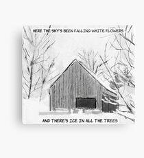 The National (Band) (Sleep Well Beast) - Snow Barn Metal Print