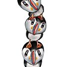 Puffin Totem  by miarsmoller