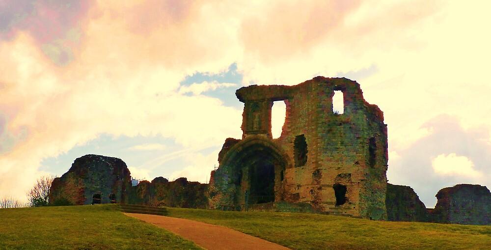 Denbigh Castle, in North Wales by artfulvistas