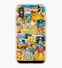 Vinilo o funda para iPhone collage amarillo buen rollo