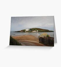 The Mysterious Burgh Island: Bigbury Devon, UK. Greeting Card