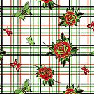 Deadly Plaid Pattern - Red Green by WickedRefined - Nicole Demereckis