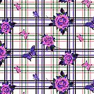 Deadly Plaid Pattern - Pink Purple by WickedRefined - Nicole Demereckis