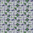 Deadly Plaid Pattern - Green Purple by WickedRefined - Nicole Demereckis
