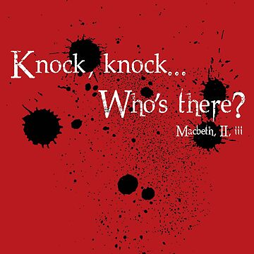 Knock knock - Shakespeare Macbeth - Sticker by justicedefender