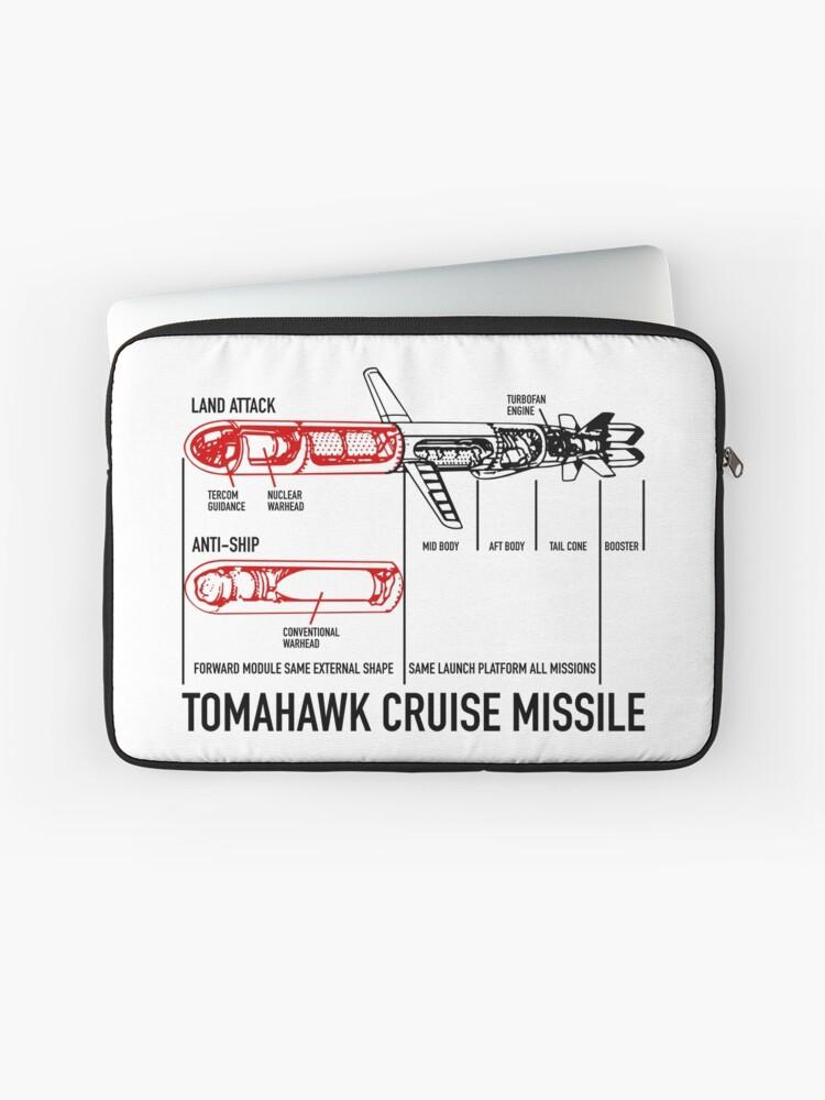 Tomahawk Cruise Missile Blueprint Diagram | Laptop Sleeve
