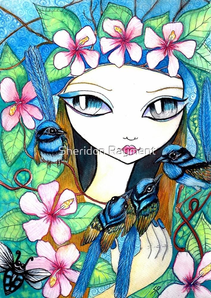 Blue Fairy Wren by Sheridon Rayment by Sheridon Rayment