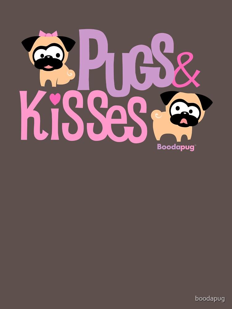 Pugs & Kisses Logo von boodapug