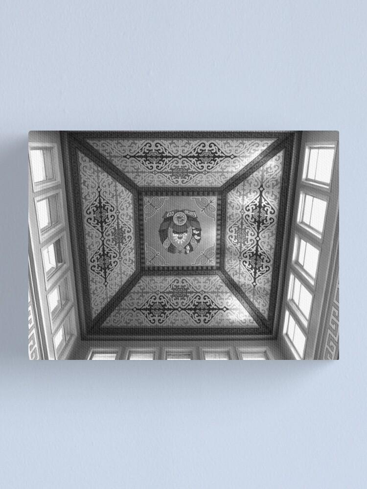 Alternate view of Bishkek Station - dome ceiling (B&W) Canvas Print