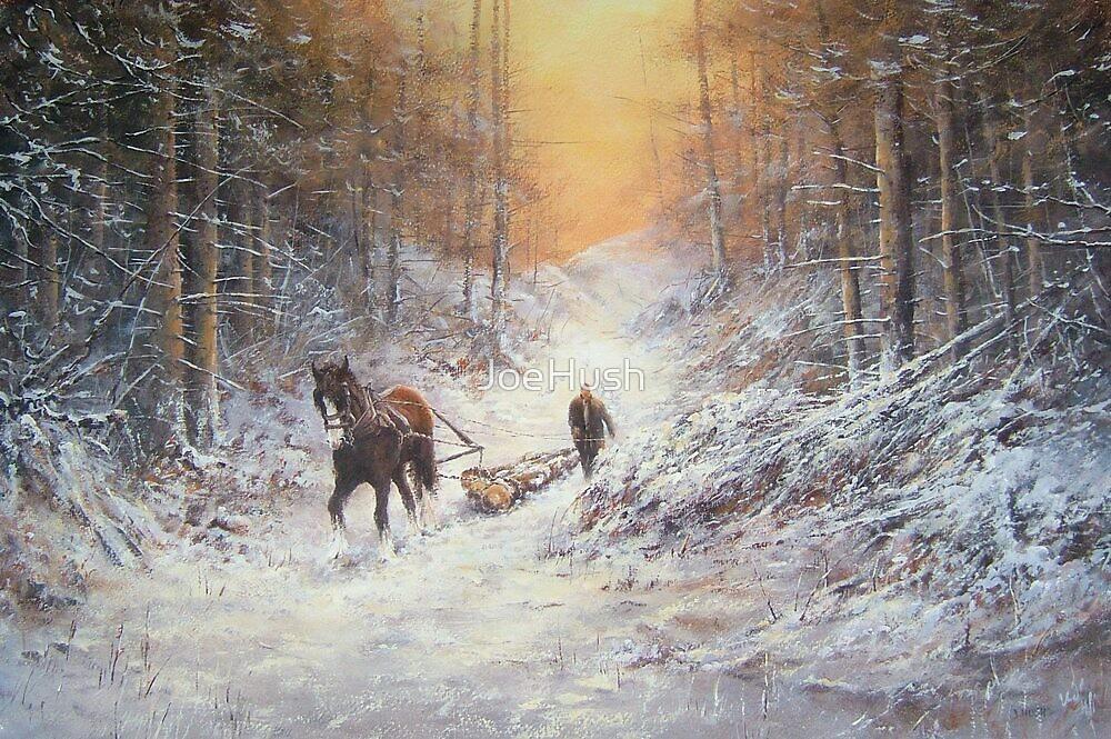 Winter Logging by JoeHush