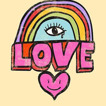 «Couleurs de l'amour - Rainbow Love Art» par ChillingNation